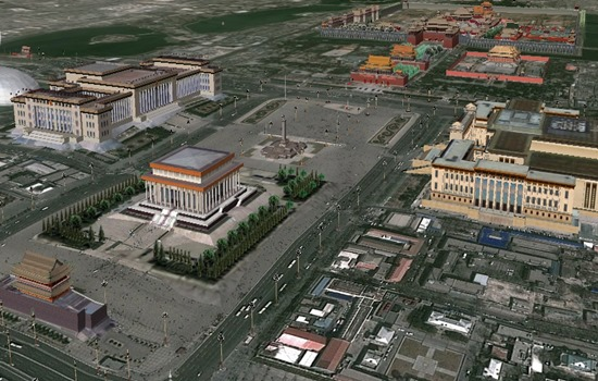 Google-earth-plaza-tiananmen
