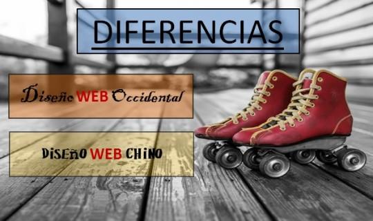 Observa las diferencias de diseño entre Webs Chinas y Webs Occidentales