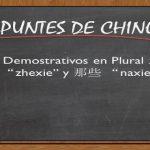 """APUNTES DE CHINO;  7# Demostrativos en Plural 这些 """"zhexie"""" y 那些 """"naxie"""""""