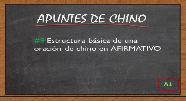 estructura basica de una oracion de chino en afirmativo