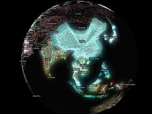 mapa interactivo exportaciones de china