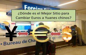 cambiar euros a yuanes
