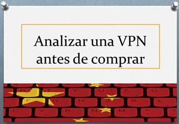 Analizar una VPN antes de comprar