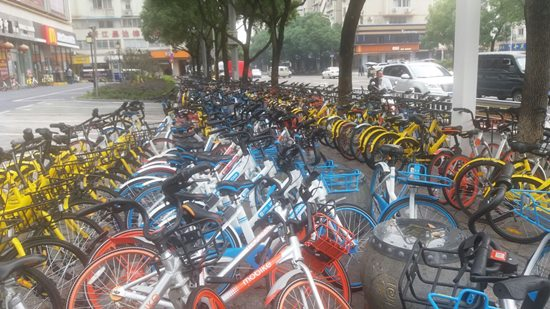 bicicletas compartidas en china