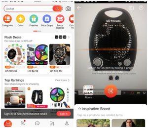 Aplicación de Aliexpress móvil