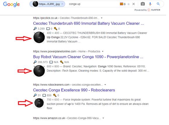 resultados búsqueda en Google por imagenes